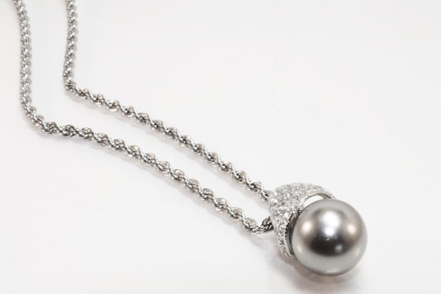 Edelstahlkette mit perle